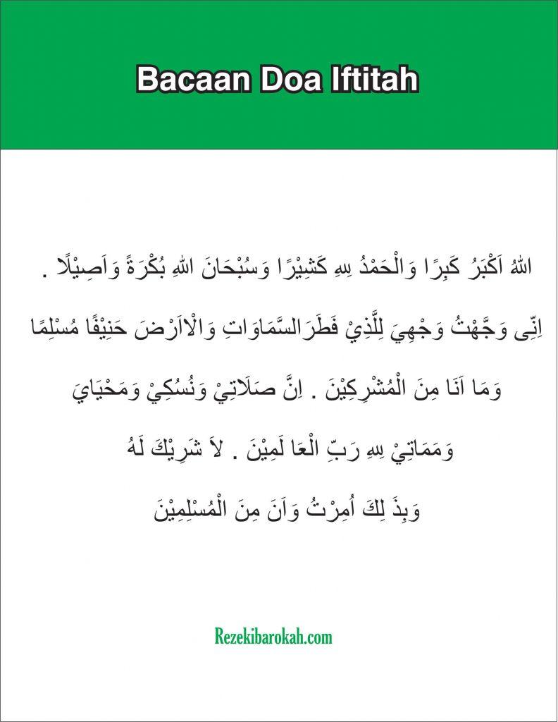 doa iftitah nu