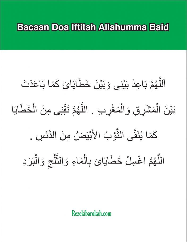 doa iftitah sholat tahajud