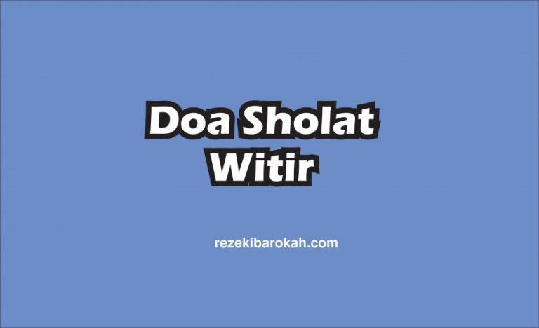 doa sholat witir setelah tahajud