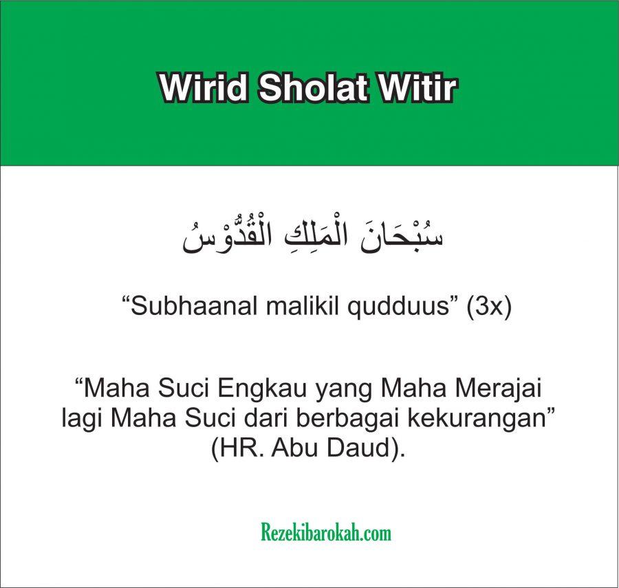 doa sholat witir sesuai sunnah